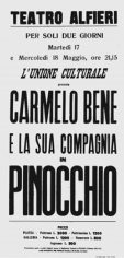 Locandina del Pinocchio, Torino, Teatro Alfieri, 1966.