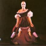 Carmelo Bene. Pinocchio 1981. Cristina Ghergo photo. Pubblished in C. Bene, 'Pinocchio (Storia di un burattino)', Florence, La casa Usher, 1981