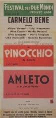 Carmelo Bene. Pinocchio 1964. Locandina.