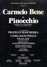 Carmelo Bene. Pinocchio 1981. Locandina.