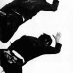 Giorgio Barberio Corsetti. Descrizione di una battaglia. 1988. Foto di Piero Tauro. Pubblicata in G. B. Corsetti, R. Molinari (a cura di), 'L'attore mentale', Ubulibri, Milano, 1992, pag.156