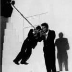 Giorgio Barberio Corsetti. Descrizione di una battaglia. 1988. Foto di Daniela Zedda. Pubblicata in G. B. Corsetti, R. Molinari (a cura di), 'L'attore mentale', Ubulibri, Milano, 1992, pag.158