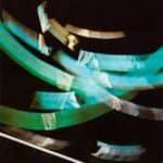 Studio Azzurro. La camera astratta. 1987. Elaborazione per il manifesto dello spettacolo. Foto ed elaborazione di Studio Azzurro. Pubblicata in Studio Azzurro e Giorgio Barberio Corsetti, 'La camera astratta, tre spettacoli tra teatro e video', Ubulibri MIlano 1988.