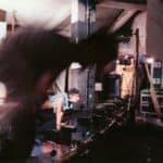 Studio Azzurro. La camera astratta. 1987. Foto di Studio Azzurro. Pubblicata in Studio Azzurro e Giorgio Barberio Corsetti, 'La camera astratta, tre spettacoli tra teatro e video', Ubulibri, Milano 1988.