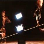 Studio Azzurro. La camera astratta. 1987. Foto di Tommaso Le Pera. Pubblicata in Studio Azzurro e Giorgio Barberio Corsetti, 'La camera astratta, tre spettacoli tra teatro e video', Ubulibri, Milano 1988.