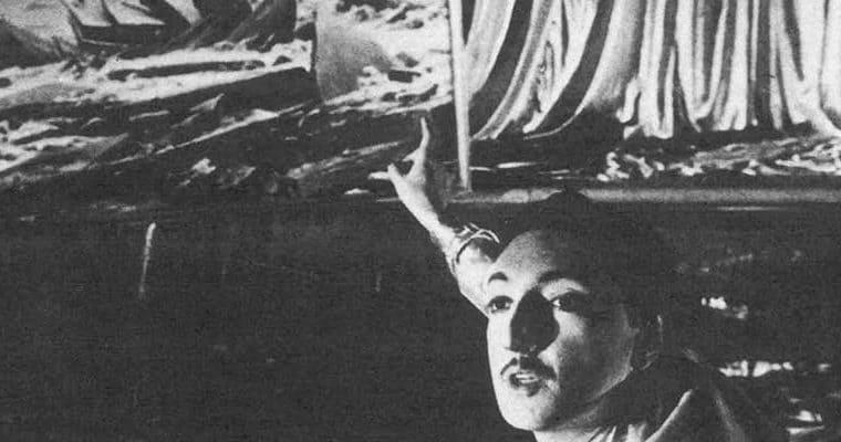 Compagnia Lombardi-Tiezzi. Ritratto dell'attore da giovane. 1985. Sandro Lombardi. Foto di Piero Marsili. Pubblicata in F. Tiezzi, 'Perdita di memoria, una trilogia per Magazzini Criminali', Ubulibri, Milano 1986