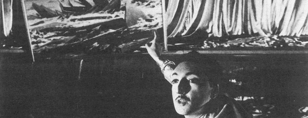 Compagnia Lombardi-Tiezzi. Ritratto dell'attore da giovane. 1985. Sandro Lombardi. Photo by Piero Marsili. Published in F. Tiezzi, 'Perdita di memoria, una trilogia per Magazzini Criminali', Ubulibri, Milan 1986
