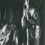 Compagnia Lombardi-Tiezzi. Ritratto dell'attore da giovane. 1985. Rolando Mugnai e Sandro Lombardi. Foto di Piero Marsili. Pubblicata in F. Tiezzi, 'Perdita di memoria, una trilogia per Magazzini Criminali', Ubulibri, Milano 1986