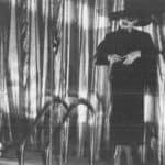 Compagnia Lombardi-Tiezzi. Ritratto dell'attore da giovane. 1985. Marion d'Amburgo. Foto di Piero Marsili. Pubblicata in F. Tiezzi, 'Perdita di memoria, una trilogia per Magazzini Criminali', Ubulibri, Milano 1986