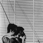 I Magazzini Criminali. Crollo nervoso. 1980. Foto di Patrizia Rossi. Pubblicata in Rossella Bonfiglioli (a cura di) 'Frequenze barbare : Teatro Ambiente, Cinema, Mass Media, Metropoli, Musica, Pornografia nel Carrozzone Magazzini Criminali Prod.', La Casa Usher, Firenze 1981, p.117