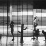 I Magazzini Criminali. Crollo nervoso. 1980. Foto di Piero Marsili. Pubblicata in Rossella Bonfiglioli (a cura di) 'Frequenze barbare : Teatro Ambiente, Cinema, Mass Media, Metropoli, Musica, Pornografia nel Carrozzone Magazzini Criminali Prod.', La Casa Usher, Firenze 1981, p.61