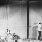 I Magazzini Criminali. Crollo nervoso. 1980. Foto di Xandra Gadda. Pubblicata in Rossella Bonfiglioli (a cura di) 'Frequenze barbare : Teatro Ambiente, Cinema, Mass Media, Metropoli, Musica, Pornografia nel Carrozzone Magazzini Criminali Prod.', La Casa Usher, Firenze 1981, p.155