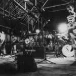 Il Carrozzone. Last concert polaroid. 1979. Photo by Piero Marsili. Published in Rossella Bonfiglioli (edited by) 'Frequenze barbare : Teatro Ambiente, Cinema, Mass Media, Metropoli, Musica, Pornografia nel Carrozzone Magazzini Criminali Prod.', La Casa Usher, Florence 1981, p.111