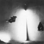 Il Carrozzone. Vedute di Porto Said. 1978. Foto di Giuseppe Pino. Pubblicata in Rossella Bonfiglioli (a cura di) 'Frequenze barbare : Teatro Ambiente, Cinema, Mass Media, Metropoli, Musica, Pornografia nel Carrozzone Magazzini Criminali Prod.', La Casa Usher, Firenze 1981, p.140
