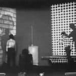 Il Carrozzone. Vedute di Porto Said. 1978. Foto di Giuseppe Pino. Pubblicata in Rossella Bonfiglioli (a cura di) 'Frequenze barbare : Teatro Ambiente, Cinema, Mass Media, Metropoli, Musica, Pornografia nel Carrozzone Magazzini Criminali Prod.', La Casa Usher, Firenze 1981, p.51