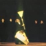 Totò principe di Danimarca. Leo de Berardinis. 1990. P. Vandelli, M. Sgrosso, M. Manchisi, Leo, A. Neiwiller, E. Bucci, F. Mazza, S. Levesque. © photo by Piero Casadei. Published in Claudio Meldolesi, 'La terza vita di Leo. Gli ultimi vent'anni del teatro di Leo de Berardinis a Bologna', Titivillus, Pisa, 2010.