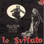 Poster of the film 'Lo svitato' (1955) with Dario Fo, Franca Rame, Franco Parenti, Alberto Bonucci, Justin Durano et alii. Screenplay by Dario Fo and Carlo Lizzani. Directed by Carlo Lizzani