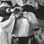 Dario Fo in a scene of the three-act comedy 'Il Fanfani rapito' by Dario Fo, with Dario Fo and Franca Rame, which debuts on June 5, 1975 at the Palazzina Liberty in Milan