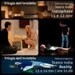 Deflorian-Tagliarini. Reality and Rzeczy-things, poster, November 2014, Teatro India, Rome