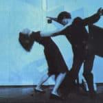 Cuori strappati. La Gaia Scienza. 1983. Marco e Alessandra danzano su ritmi brasiliani, si fuggono, si rincorrono. © Foto di Maria Causati, Pubblicata in «Frigidaire», n°32-33, luglio-agosto, 1983.