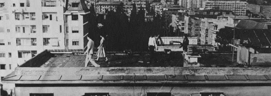La Gaia Scienza. A night on the rooftops. 1978. Published in «Panorama», 18 April 1978.