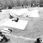 Carlo Quartucci, Camion-Histoire du soldat 1978. Pubblicata in La zattera di Babele (a cura di), 'La Zattera di Babele 1981-1991: 10 anni di parola, immagine, musica, teatro', Tipografia Press 80, Firenze 1991