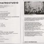 Carlo Quartucci. ZIP LAP LIP VAP MAM CREP SCAP PLIP TRIP SCRAP & LA GRANDE MAM ALLE PRESE CON LA SOCIETÀ CONTEMPORANEA. 1965. Cartellone Teatrostudio Genova 1966.