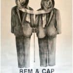 Claudio Remondi and Riccardo Caporossi, Rem & Cap, 1988. Locandina