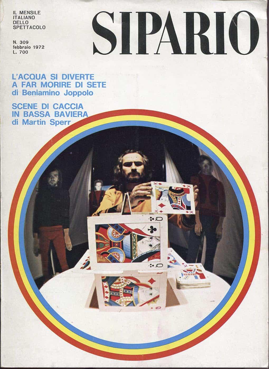 """Mario Ricci, Moby Dick, 1971 foto Tommaso Le Pera, copertina """"Sipario"""", febbraio 1972"""