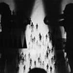 Mario Ricci, I viaggi di Gulliver, 1969, foto di Pietro Galletti, archivio 'Skema', pubblicata in Franco Quadri, L'avanguardia teatrale in Italia (materiali 1960-1976), 2 voll., I, Einaudi, Torino 1977.