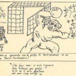 Giuliano Scabia. Il Gorilla Quadrumàno. 1974. Storyboard. Pubblicato in Gruppo di Drammaturgia 2 dell'Università di Bologna, Il Gorilla Quadrumàno, Feltrinelli, Milano 1974.