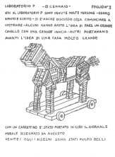 Giuliano Scabia. Marco Cavallo. 1973. Foglio n.3. Pubblicato in G. Scabia, 'Marco Cavallo. Un'esperienza di animazione in un ospedale psichiatrico', Einaudi, Torino,1976.