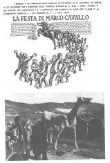 Giuliano Scabia. Marco Cavallo. 1973. La festa di Marco Cavallo. Pubblicato in G. Scabia, 'Marco Cavallo. Un'esperienza di animazione in un ospedale psichiatrico', Einaudi, Torino,1976.