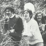 Giuliano Scabia. Il Gorilla Quadrumàno. 1974. Morro Reatino, musica libera nel bosco. Foto di Amanzio Fiorini di Nismossa.