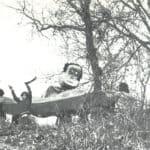 Giuliano Scabia. Il Gorilla Quadrumàno. 1974. Rappresentazione del Gorilla da Collina a collina. Foto di Amanzio Fiorini di Nismossa.