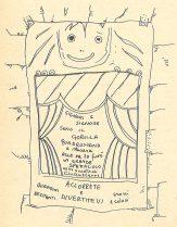Giuliano Scabia. Gorilla Quadrumano. 1974. Locandina. Pubblicata in Gruppo di Drammaturgia 2 dell'Università di Bologna, 'Il Gorilla Quadrumàno', Feltrinelli, Milano 1974