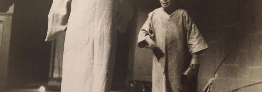 Franco Scaldati. Totò e Vicé. 1993. Foto Rita Cricchio. Archivio privato di Franco Scaldati