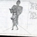 Fabrizio Montecchi, libri fonti di luce, studio per Il corpo sottile, non realizzato, Album aprile-ottobre 1988. Archivio privato dell'artista