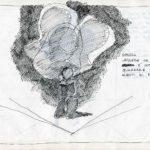 Fabrizio Montecchi, libro fonti di luce per ombra, studio per Il corpo sottile, non realizzato, Album aprile-ottobre 1988. Archivio privato dell'artista