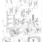 Studio Azzurro. Neither. 2004. Disegno di Paolo Rosa. Pubblicato in Noemi Pittaluga e Valentina Valentini, (a cura di), «Studio Azzurro. Teatro», Contrasto, 2012.