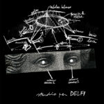 Studio Azzurro. Delfi (studio per suono, voce, video e buio). 1990. Composizione grafica. Disegni di Paolo Rosa e Studio Azzurro. Pubblicato in N. Pittaluga e V. Valentini, a cura di, «Studio Azzurro. Teatro», Contrasto, 2012.