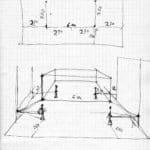 Tam Teatromusica. deForma*. 2007-2009. Bozzetto della forma elastica. Disegno di Michele Sambin, archivio privato dell'artista.