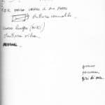 Tam Teatromusica. deForma*. 2007-2009. Appunti per la realizzazione dello spettacolo. Di Michele Sambin, archivio privato dell'artista.