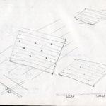 Fabrizio Montecchi, Studio per pedana, Album febbraio aprile 1988. Archivio privato dell'artista