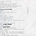 Fabrizio Montecchi, Studio per il Corpo sottile. Album ottobre 1987-gennaio 1988. Archivio privato dell'artista