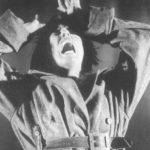 Nei leoni e nei lupi. Teatro Valdoca. 1997. Claudia Dulitchi. Foto di Christian Bort. Pubblicata in E. Della Giovanna, (a cura di), 'Teatro Valdoca', Rubettino, 2003.