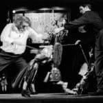 Mimmo Cuticchio. Don Giovanni all'Opera dei Pupi. Palermo. Teatro Bellini. 2002. Mimmo e Giacomo Cuticchio. © Foto di Maurizio Buscarino