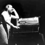 Mimmo Cuticchio. Visita guidata all'Opera dei Pupi. 1989. Mimmo Cuticchio in un momento dello spettacolo. © Foto di Salvo Rizzo.