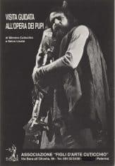 Mimmo Cuticchio. Visita guidata all'Opera dei Pupi. 1989. Locandina.