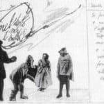 Achille Perilli. Collage. 1961. Scena X. Bozzetto di Achille Perilli.